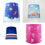 4 Designs Girls Boys Kids Childrens Bedroom Pendant Light Shades Multi Coloured
